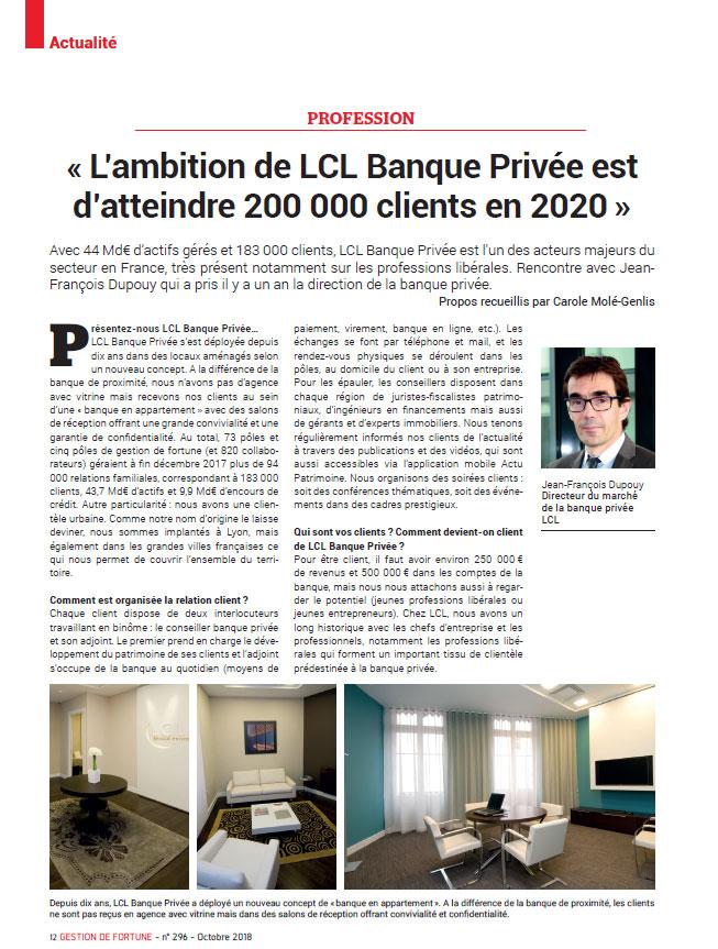 Gestion de Fortune LCL Banque Privée