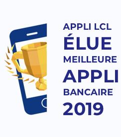 LCL Mes comptes Meilleure appli bancaire de l'année 2019