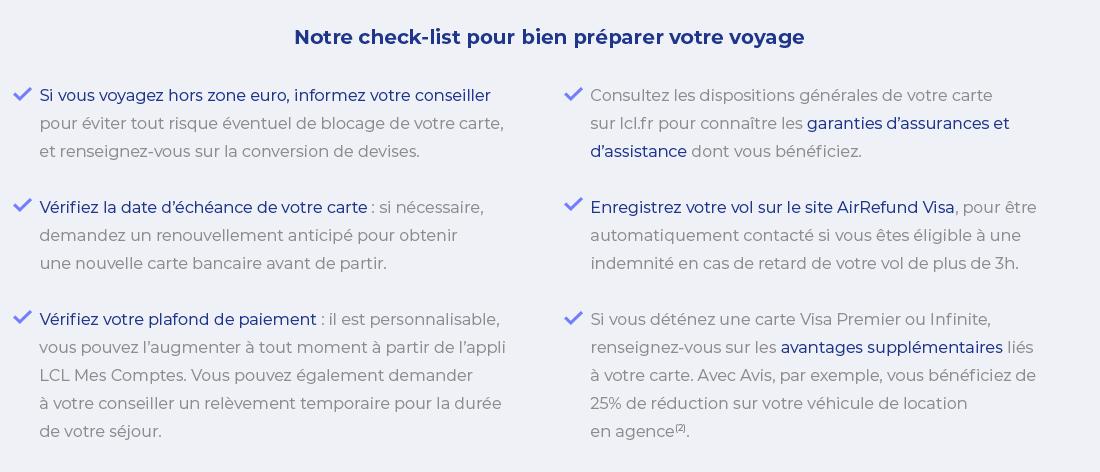 Notre check-list pour bien préparer votre voyage