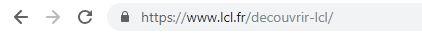 Adresse URL LCL