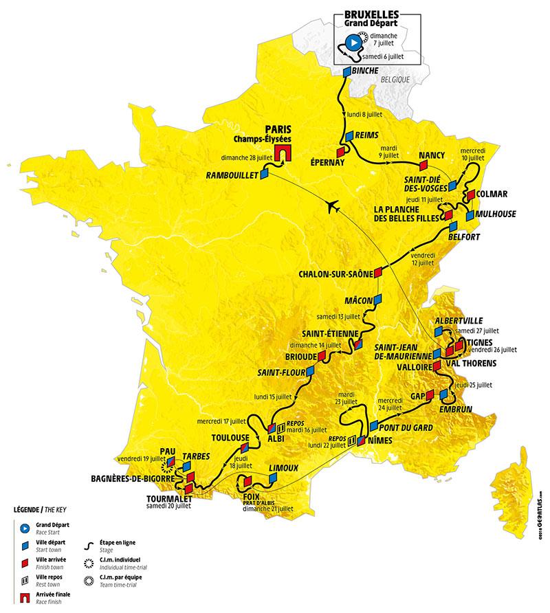 Parcours du Tour de France 2019 - LCL